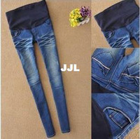 Wholesale Maternity Jeans Plus Size Elastic High waist Pants Leggings Jeggings for Pregnant Women Fashion Cheap Clothing S M L XL XXLautumn pants
