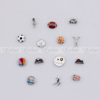 Cheap Alloy NEW Sports Recreation Mini Floating Charms for Glass Memory Living Lockets Wholesale