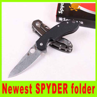 Cheap Camping knife popular Spyderco Knives CTS204 Survival knife tactical utility hiking knives high quality best christmas gift 222L