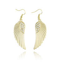 Wholesale Brand New European and American fashion trend of foreign trade of the original single with crystal angel wings earrings earrings