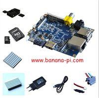 Wholesale Banana pi kit Banana PI case CPU DDR heat sink SD Card sata line EU Power Adapter USB Line like Raspberry PI and cubieboard