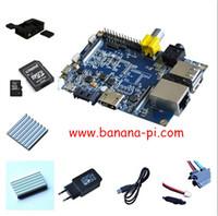 free shipping Banana pi kit Banana PI+ case+ CPU&DDR heat sink...