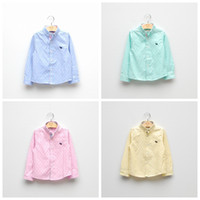 Cheap 2014 quality items springl autumn boy's long sleeved shirt with embroidery logo Children's boys shirts boys clothes