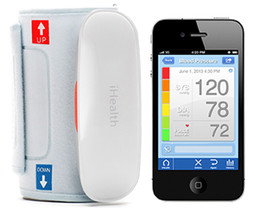 iHealth BP5 Wireless Monitor de Presión Arterial Bluetooth Automático de Brazo Manguito de Esfigmomanómetro Digital para iPod iTouch iPhone Dropshipping Gratis
