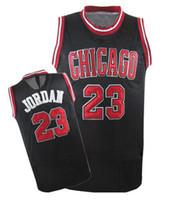 Wholesale Basketball Jerseys Bulls Jordan Black Basketball Wears Hot Sale Top Players Jersey Hot Sale Authentic Athletic Apparel New Uniforms