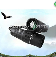 Cheap Wholesale-Promotion! 16x52 Monocular Telescope 16x Zoom 66M 8000M Hunting Birding Camping Green Film Dual Focus Free Shipping