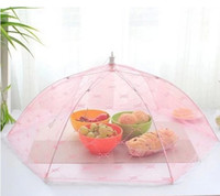 Wholesale Household hexagon food dust cover Fashion lace cover folding nets fruit food covers dust fly prevention