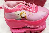 Wholesale EMS DHL New Frozen Children Roller Shoes Princess Anna Elsa Flight Skates Shoes