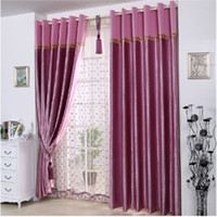 Wholesale Satin Full Blackout Curtains Thick Shade Sunshade Cloth Living Room Bedroom Great Quality Curtains