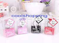 Wholesale DHL With this Ring Diamond Keychain White Key Chain Wedding Favors and gifts