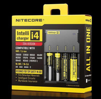 Wholesale Drop Ship in Intellicharger Nitecore I4 Charger Universal Charger for CR123A Battery E Cigarette in stock