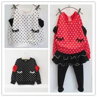 Cheap wholesale new 2014 Autumn Fashion design girls Hoodies Sweatshirt polka dot print pullover coat red white black