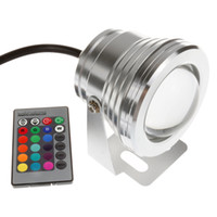 led underwater fishing light - Silver W RGB Warm White Cool White DC V Waterproof led underwater lights Remote for fountain ponds pool fish tank
