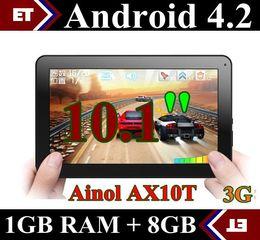 DHL 5PCS Ainol AX10T Numy 3G AX10 Phone Call Tablet pc 10 inch MTK8312 Dual Core 1GB 8GB Android 4.2 Camera WCDMA GSM Bluetooth GPS TA11