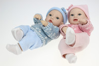 Wholesale quot Silicone vinyl Reborn Baby Dolls very soft smiling girl and boy dolls handmade Realistic and Lifelike birthday present