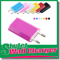 Wholesale Colorful USB Wall charger EU US Plug mAh Home charger V A mAh AC Power Charger Travel Adapter For Iphone ip5 Galaxy S5 Note