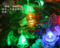 10 m LED small bell string lights, decorative lights flashin...