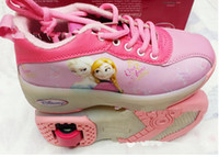 baby skate shoes - 28 yards FROZEN children s casual shoes Flying skating shoes Cartoon bandage girl sneakers Popular Baby Shoes pair