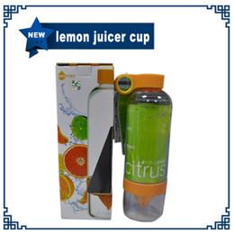Wholesale 800ml NEW High Quality Lemon Bottle Cup Korea Citrus Zinger Juice Source Vitality Water Bottle Fruit Juicing Kettle