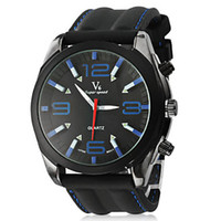 analog holiday - 1pc Travelling holiday watches Men s Fashion Vogue Black Dial Silicone Band Strips Hour Marks Quartz Wrist Watch