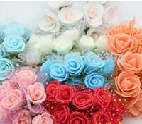 Cheap 144pcs lot Handmade Mulberry Paper Flower Bouquet wire stem Scrapbooking artificial Mini rose flowers wedding party Decor