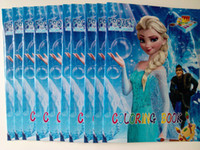 Wholesale Hot sale Frozen Series Cartoon Stickers Coloring Book with Drawing book Children Gift in