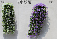 artificial spider - 1p Artificial Spider Plant Rattan cm inches Silk Flowers Fake Hanging spider plant Vines Colors for Wedding Home Party Decoration