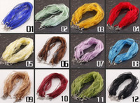 Wholesale inch mixed color organza ribbon chain necklace cords colors you can pick colors