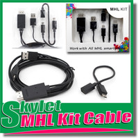 achat en gros de hdmi to usb converter-Câble HDMI Full HD 1080P Kits Micro USB MHL vers HDMI Adaptateur HDTV Converter Mobile Phone câble numérique pour Samsung Galaxy S3 S4 Note2