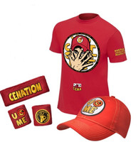 Wholesale Wrestling John Cena quot U Can t C Me quot Authentic T Shirt Package Cap Sweatband Set