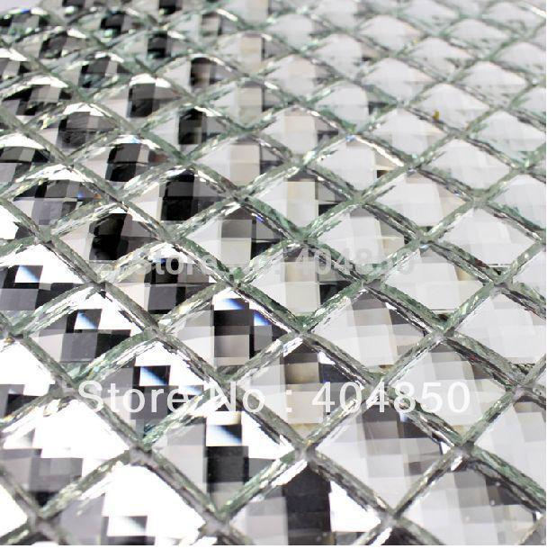 2017 kitchen backsplash 3d effect beveled silver mirror