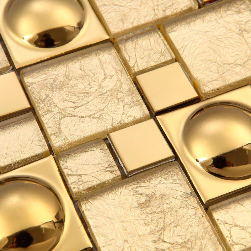 2017 magic pattern gold glass kitchen backsplash tiles ideas ...