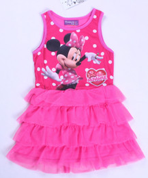 Wholesale new pretty kids dresses year little girl MINNIE MOUSE lace Vest dresses Halloween christmas kids clothing kids girl dresses