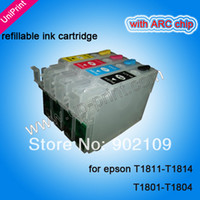 Wholesale T1811 T1814 sets NEW empty Refillable ink cartridges for epson xp xp xp xp xp xp xp T1801