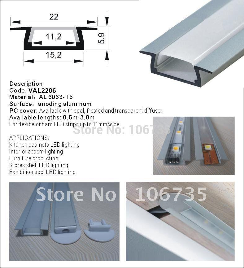 Aluminum Led Strip Light Channels Slim Version For An