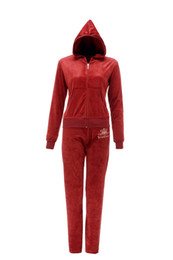 Wholesale 2014 Hot Women Track Jackets set Hooded collar Long sleeves Front zipper closure with J pull cotton polyester Freeshipping