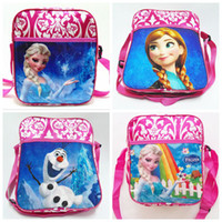 Wholesale Newest Frozen backpacks Kids Cartoon frozen Satchel baby girls Travel Bags girls Shoulder Bag girls preschool