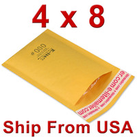 bubble envelope - Free shiping x8 mm quot x204mm quot KRAFT BUBBLE MAILERS PADDED MAILING ENVELOPE BAG SHIPPING SUPPLY