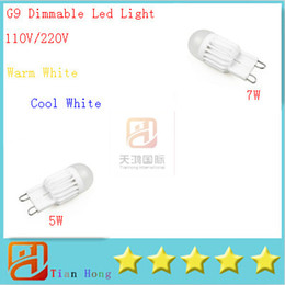 G9 5W 7W Dimmable 110V-220V 1 LEDs Lamp 360 Beam Angle Warm Cool White LED Miniature Candle Bulb 10x