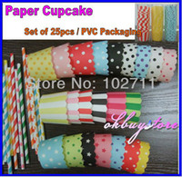 Wholesale MUFFIN CAKE Polka Dot Paper CUPCAKE CASES Wilton Cake cup Greaseproof Pick Color PVC Bucket