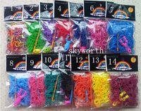 rainbow loom - 500pcs Rainbow loom bands DIY bracelets each have bands Y mini loom S clips mini hook plastic DIY Toy for kids
