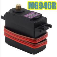 Cheap MG946R mg995 upgrade RC Metal Gear Torque Servo For Boat CAR 13KG Torque Metal Servo MG946 Upgraded MG945 fast