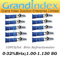 Wholesale 10pcs Brix to sg Beer Brewing in1 refractometer RSG ATC with both brix and S G scales