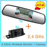 "Cheap Wireless New 3 in 1, 4.3"" TFT LCD Car Mirror Monitors Sunvisor+Rear View Camera Reverse Backup Parking Assistance+Wireless Kits"
