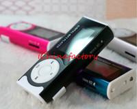 Wholesale LCD Screen MP3 Player Hot Cheap Colors Mini Clip Sport Music Mp3 Players w Micro SD TF Card Slot FM Radio Speaker LED Flashlight