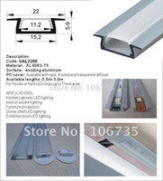 Cheap Aluminum led strip Light Channels slim version for an under cabinet recess in the kitchen, recess profile for ceiling lighting