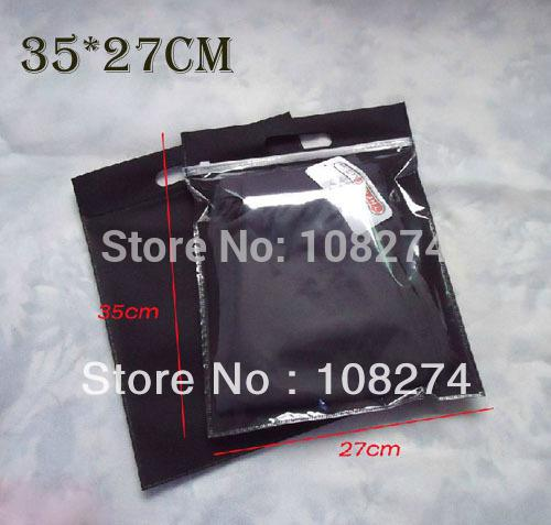 2017 35 27cm 200x clear plastic and non woven zip lock bag for Clear shirt packaging bags