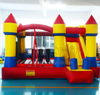 Wholesale Best qualty bouncy castle bouce house with slide for kids inflatable toys for kids jumping inflatable toys obstacle course