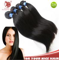 Cheap For Your Nice Hair 3Pcs Brazilian Hair Weave Bundles AAAAAA Yaki Straight Virgin Human Hair Extensions 12-30'' 100g Pcs DHL free shipping
