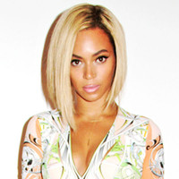 Wig,Half Wig Human Hair 130% 2014 New beyonce wig lace front human hair bob short wig ladieslace human hair wigs two toned or ombre
